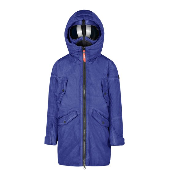 Boy's parka in nylon garment dyed