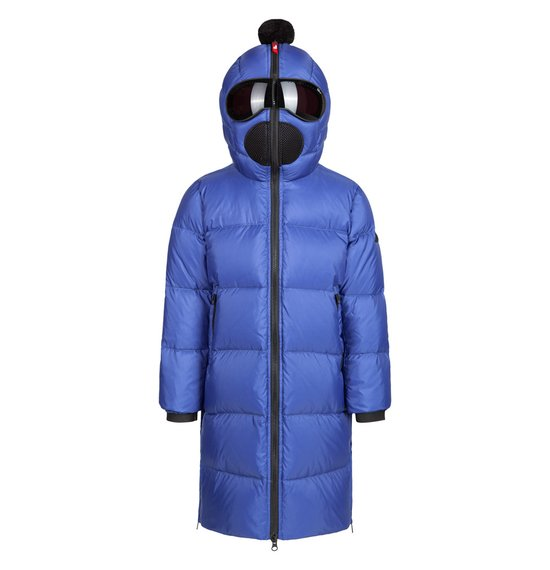 Boy's down jacket in nylon micro-ripstop with printing