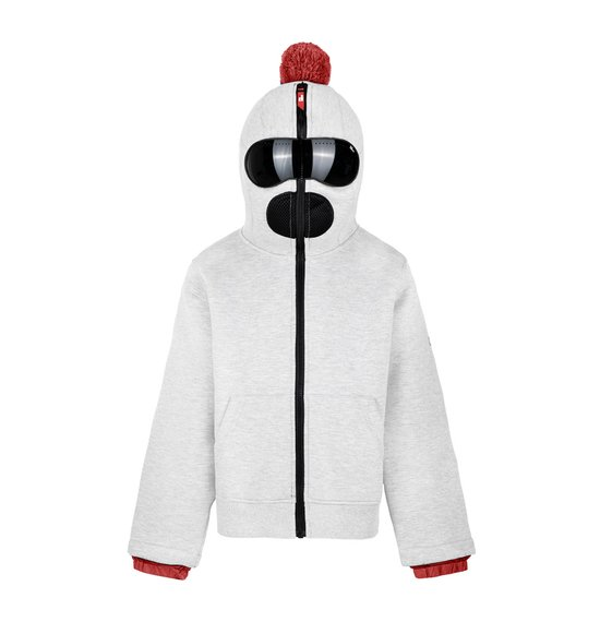 Unisex hoodie in spacer piquet fleece