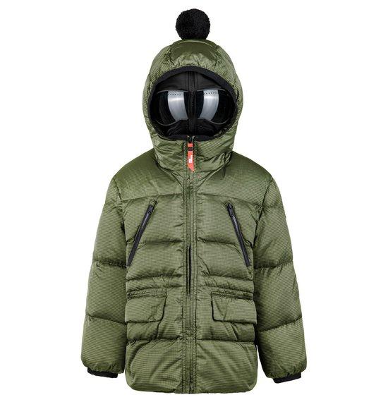 Girl's Down Jacket in Ripstop Nylon