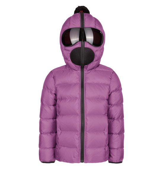 Girl's down jacket in nylon micro-ripstop