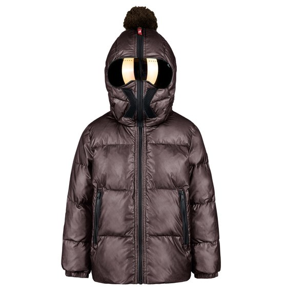 Unisex Down Jacket in Nylon with Mesh