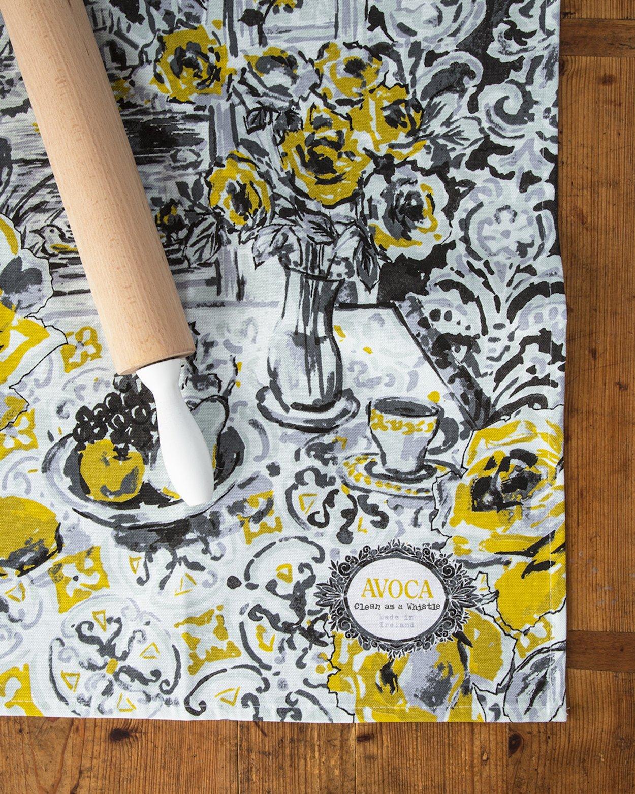 Yellow Rose Tea Towel