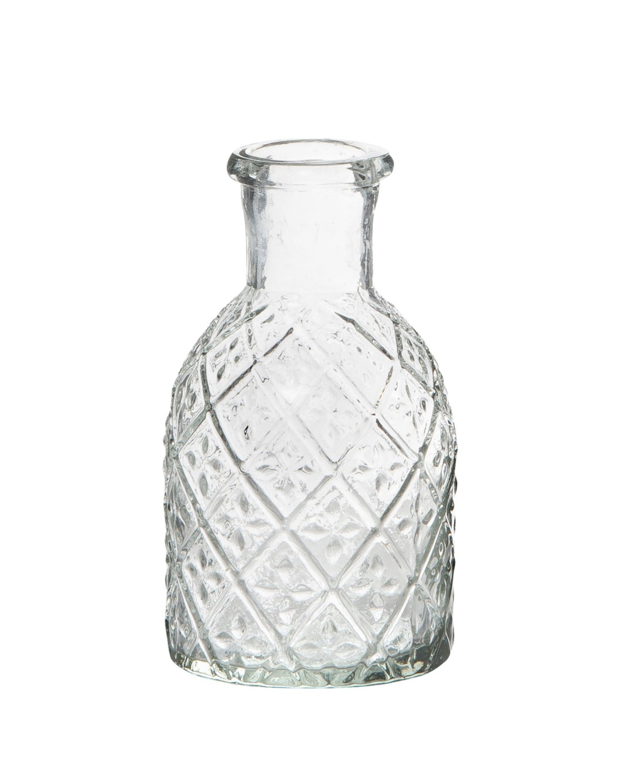 Harlequin Pharmacy Glass Candle Vase