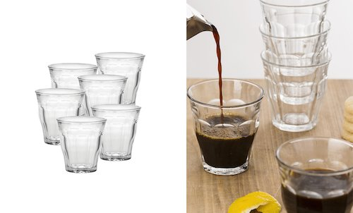 6 Pack of Medium Glass Tumblers