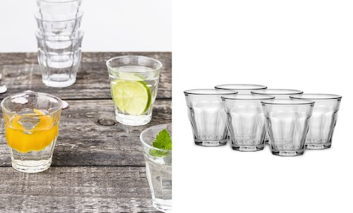 6 Pack of Mini Glass Tumblers