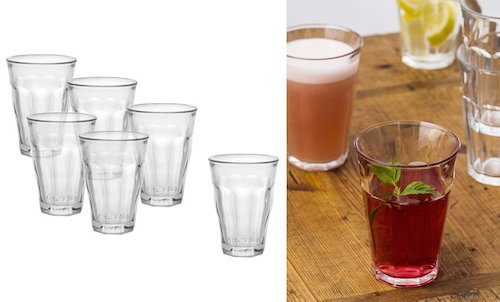 6 Pack of Large Glass Tumblers