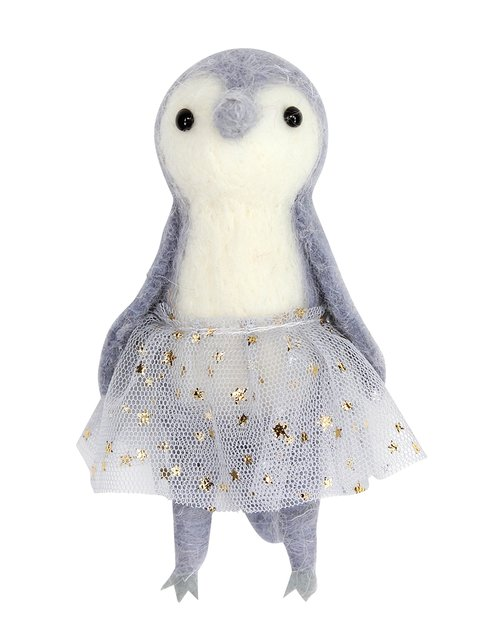 Grey Penguin with Sparkly Tutu