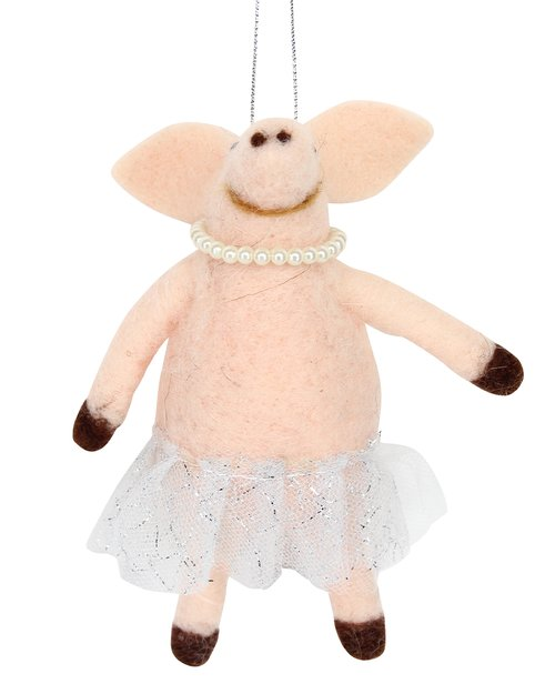 Pig With Tutu & Pearls