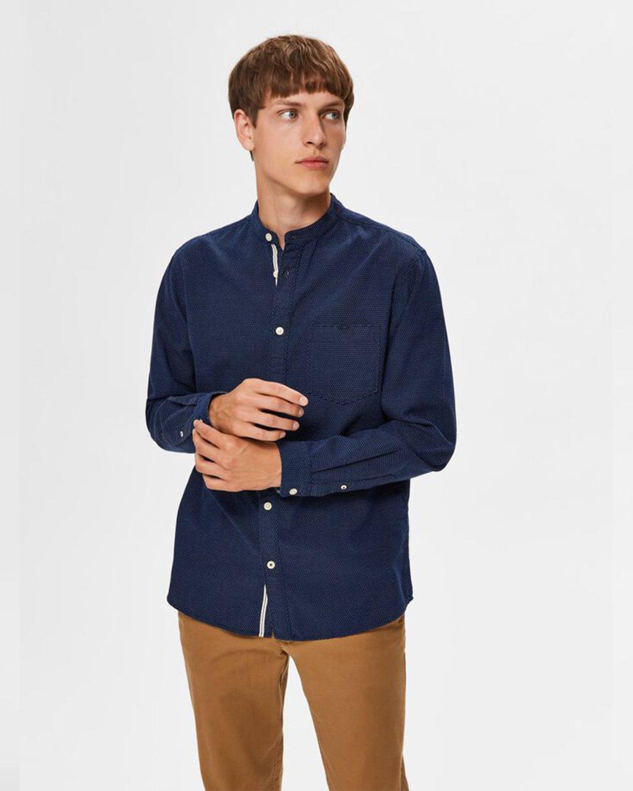 Tyler Slim Mandarin Collar Shirt