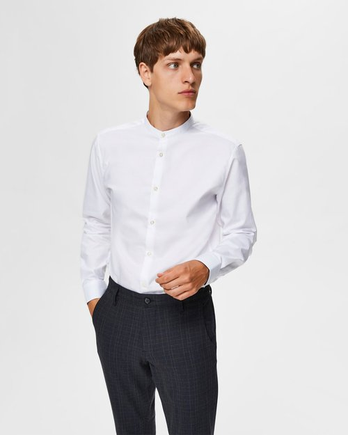 Mark Slim Fit Mandarin Collar Shirt