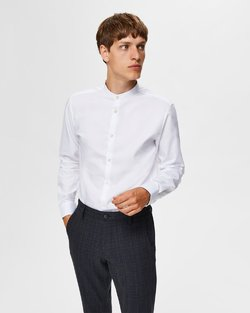 Mark Slim Fit Mandarin Collar Shirt