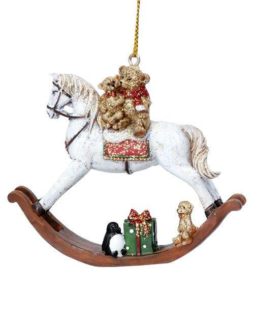 Teddies on Rocking Horse