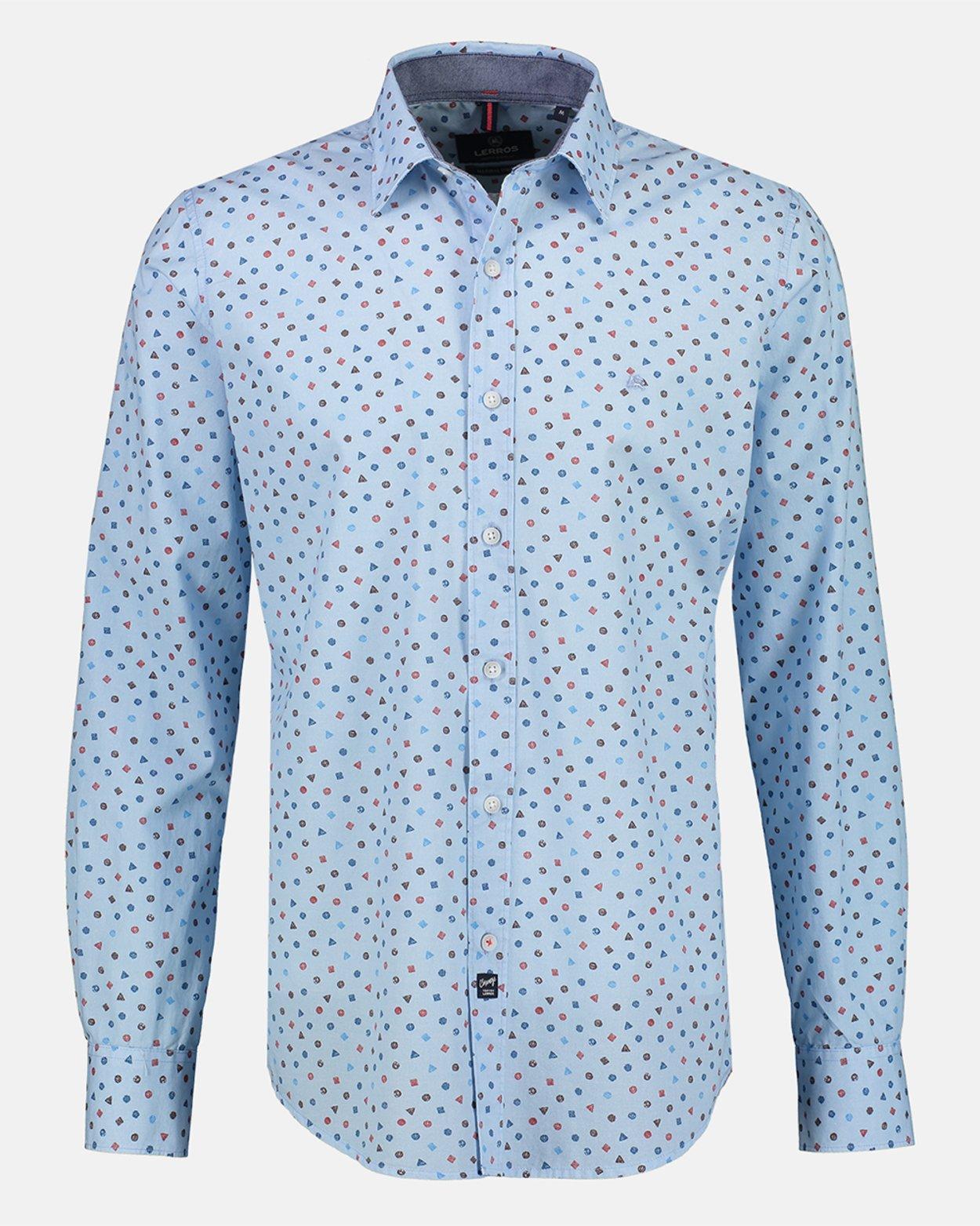 Kent Collar Print Shirt