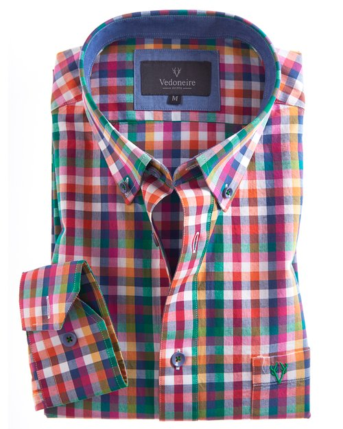 Soft Wash Check Cotton Shirt