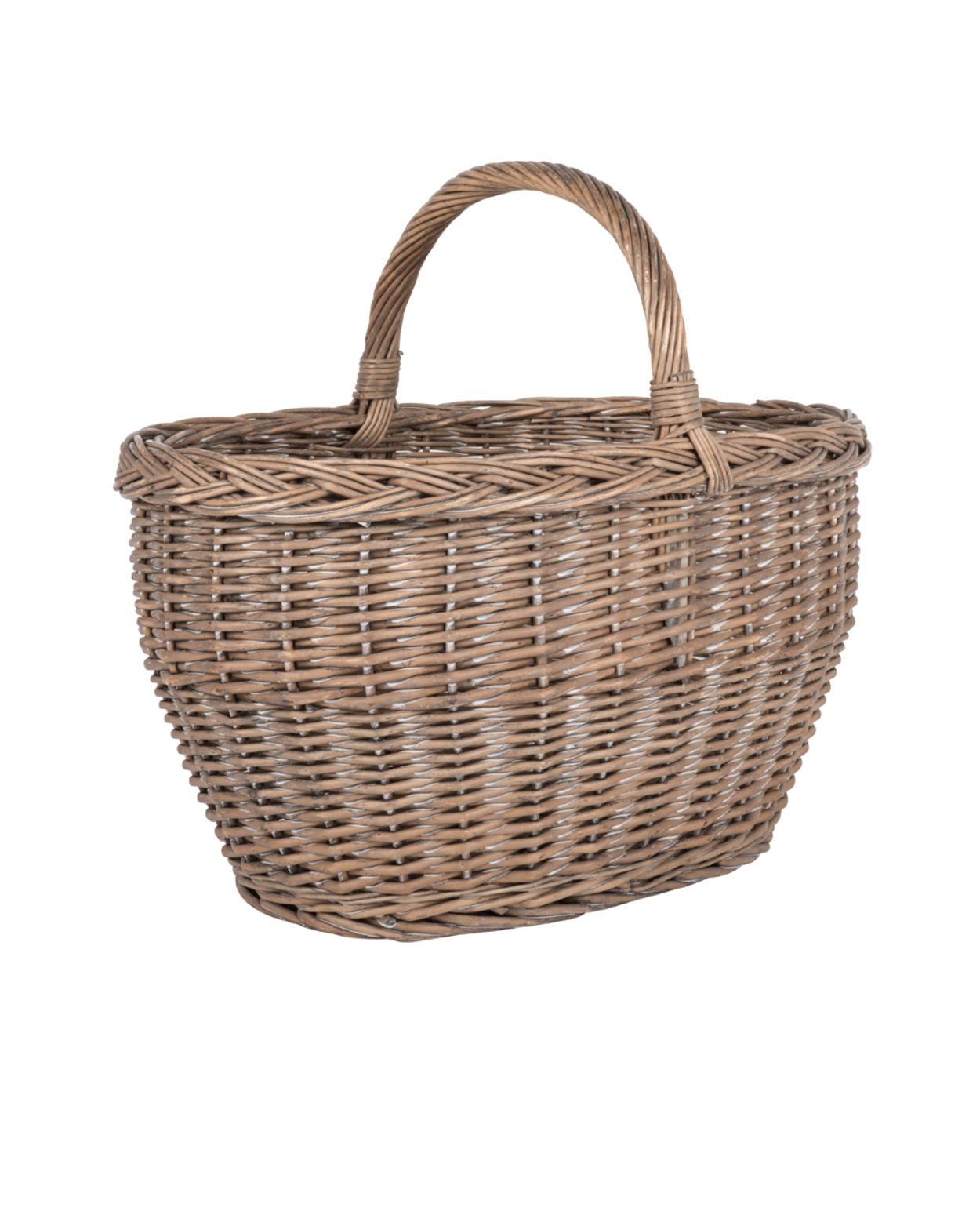 Willow Wicker Big Basket with Handle