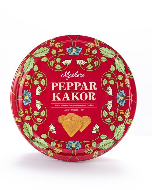Pepparkakor - Gingersnap Cookie Tin