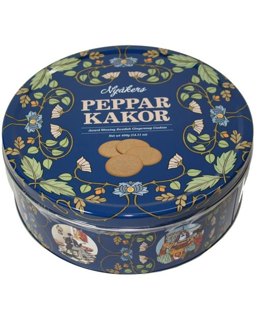 Pepparkakor Gingersnap Cookies - Blue Tin