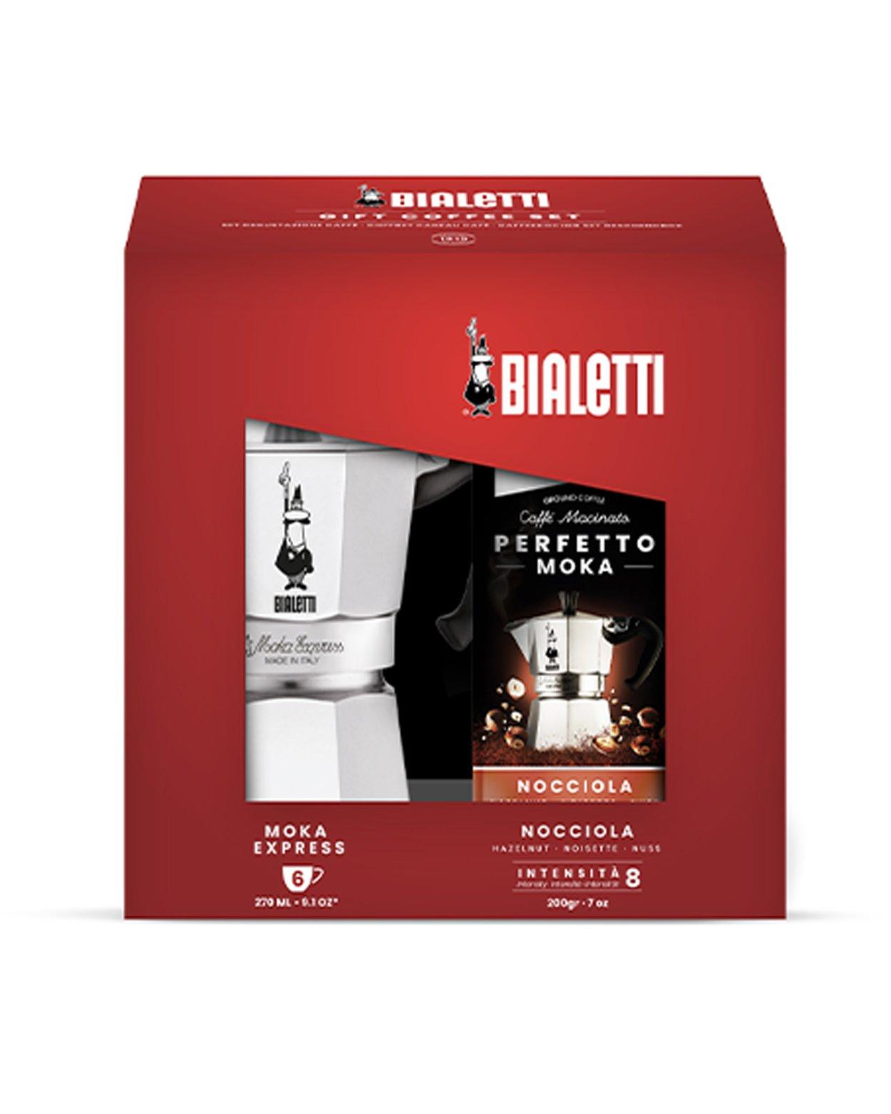 6 Cup Moka Express & Coffee Gift Set