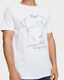 Sketched Artwork Tee-Shirt