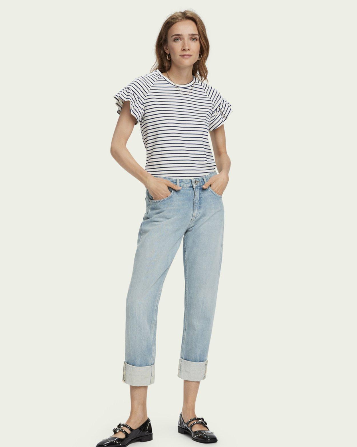 Smock Sleeve Cotton T-Shirt