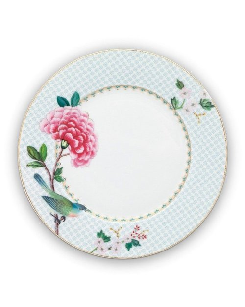 Blushing Birds Plate - White - 21cm