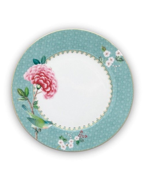 Blushing Birds Plate - Blue - 21cm