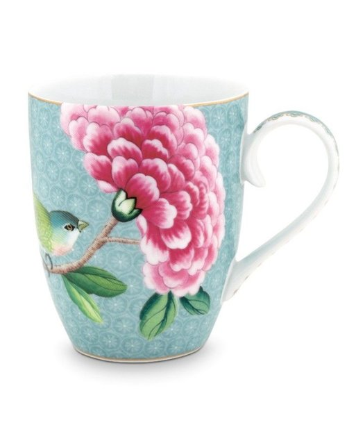 Blushing Birds Mug - Blue - Large