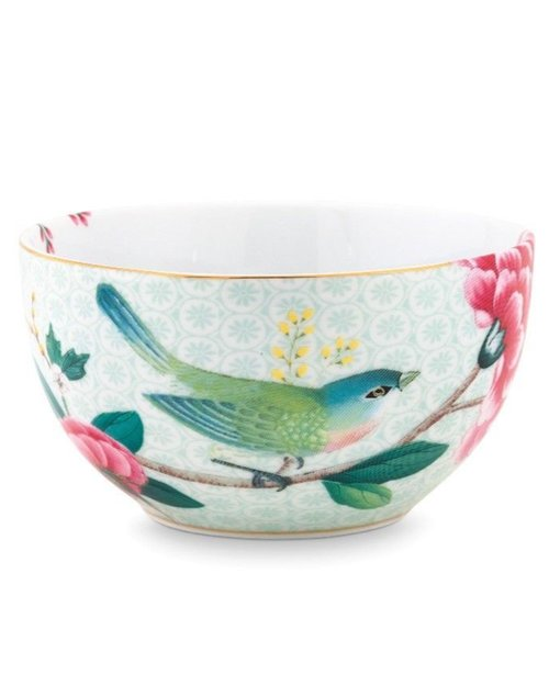 Blushing Birds Bowl - White - 12cm