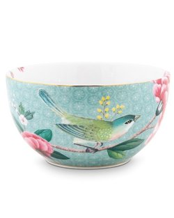 Blushing Birds Bowl - Blue - 12cm
