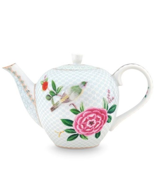 Blushing Birds Teapot - White - Small