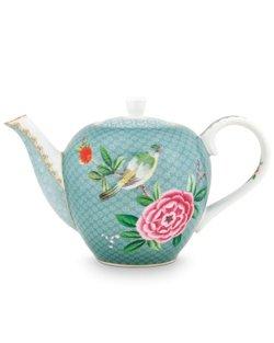 Blushing Birds Teapot - Blue - Small
