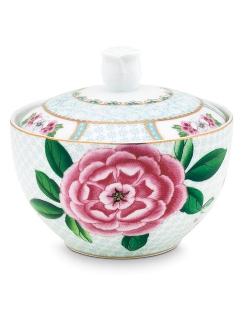 Blushing Birds Sugar Bowl - White