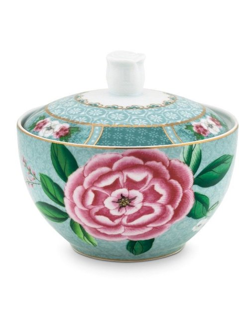 Blushing Birds Sugar Bowl - Blue