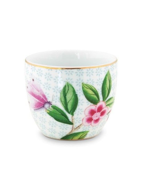 Blushing Birds Egg Cup - White