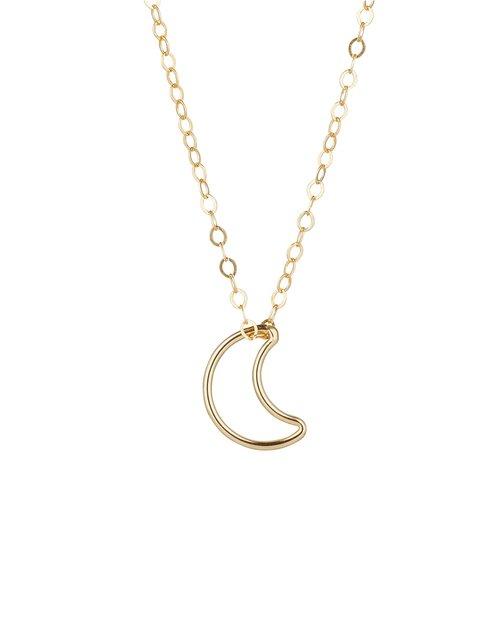 14kt Gold Filled Moon Pendant