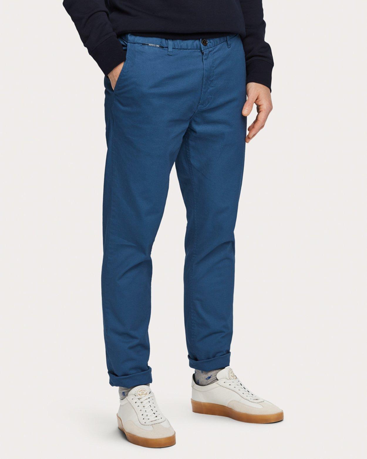 Stuart Classic Chinos - Worker Blue