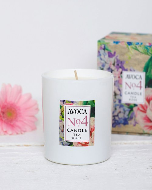 Tea Rose Scented Candle