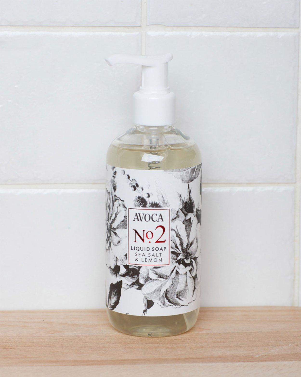 Avoca No 2 Liquid Soap - Sea Salt & Lemon