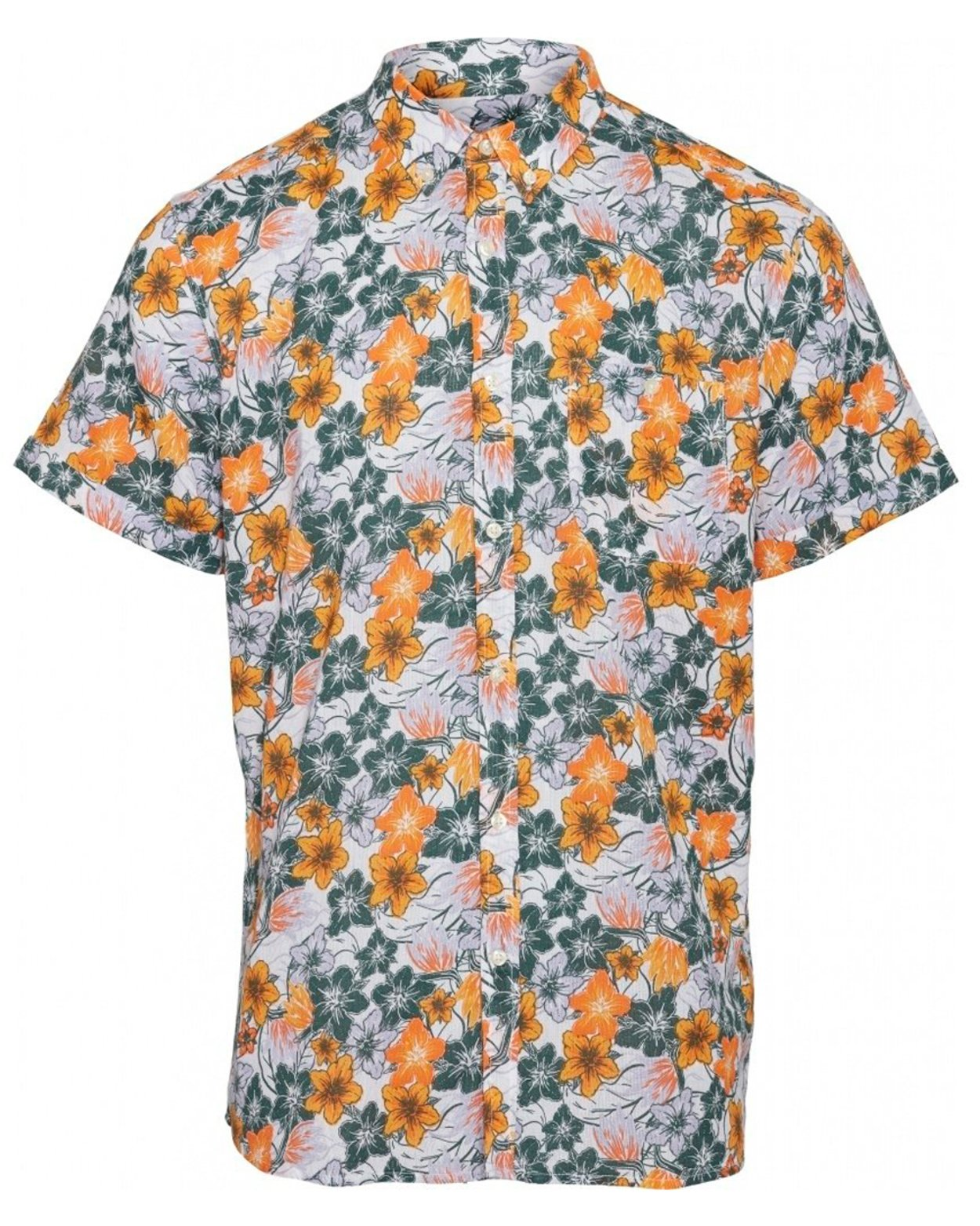 Elder Short Sleeve Flower Shirt