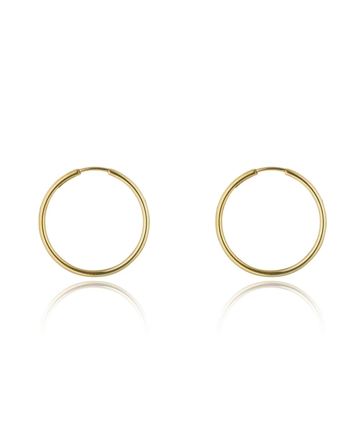 9kt Gold Medium Hoops
