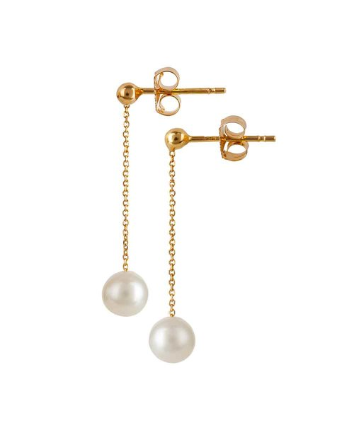 9kt Gold Pearl Drop Earrings
