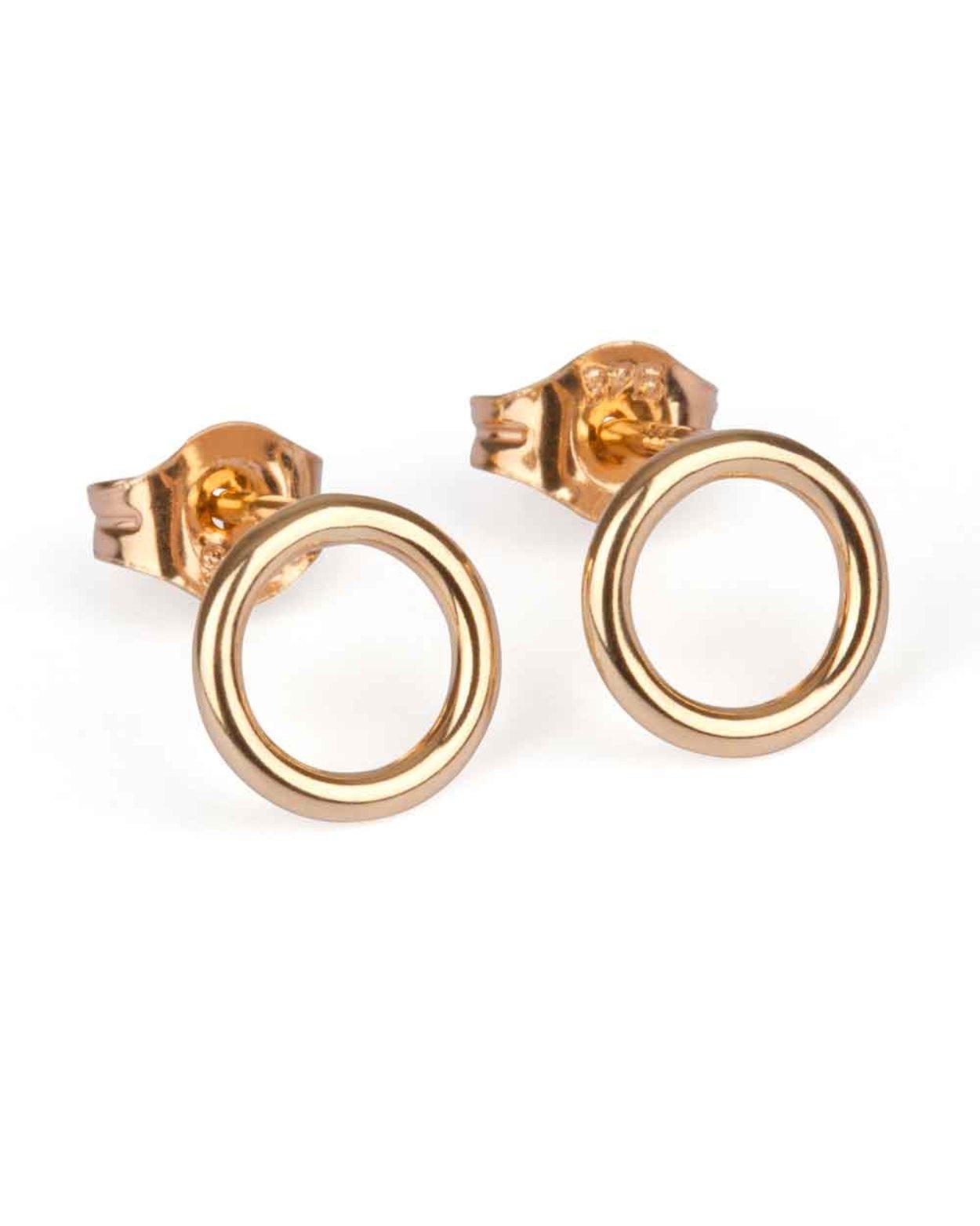 9kt Gold Circle Stud Earrings