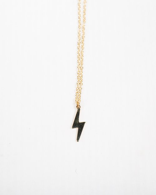 9kt Gold Lightning Bolt Pendant