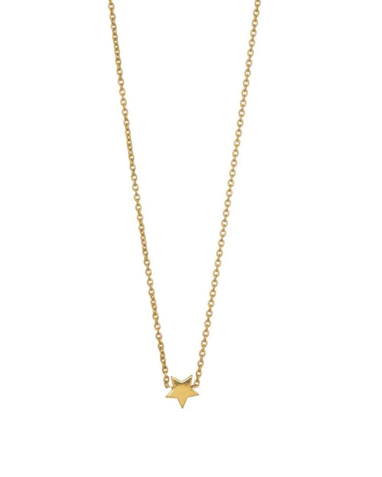 9kt Gold Floating Star Necklace