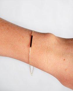 9kt Gold Rectangular Bar Bracelet