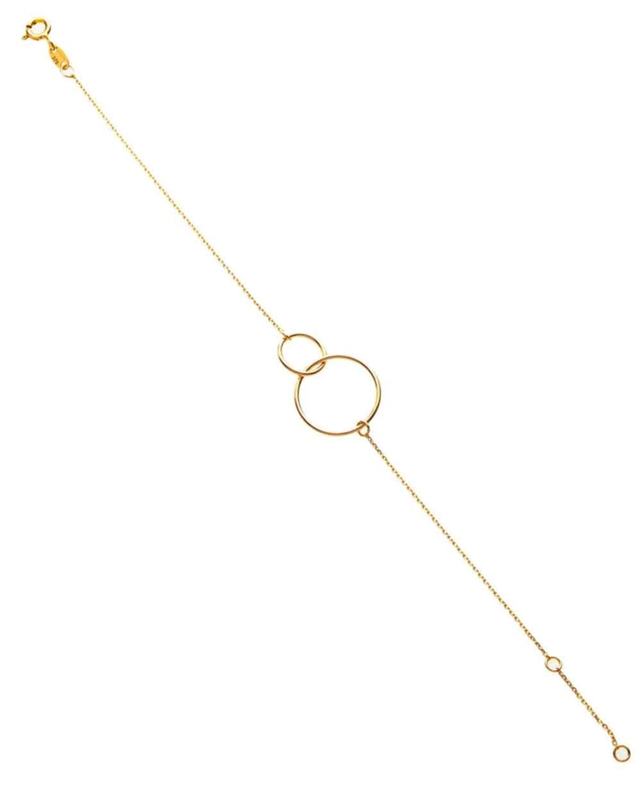 9kt Gold Double Circle Bracelet