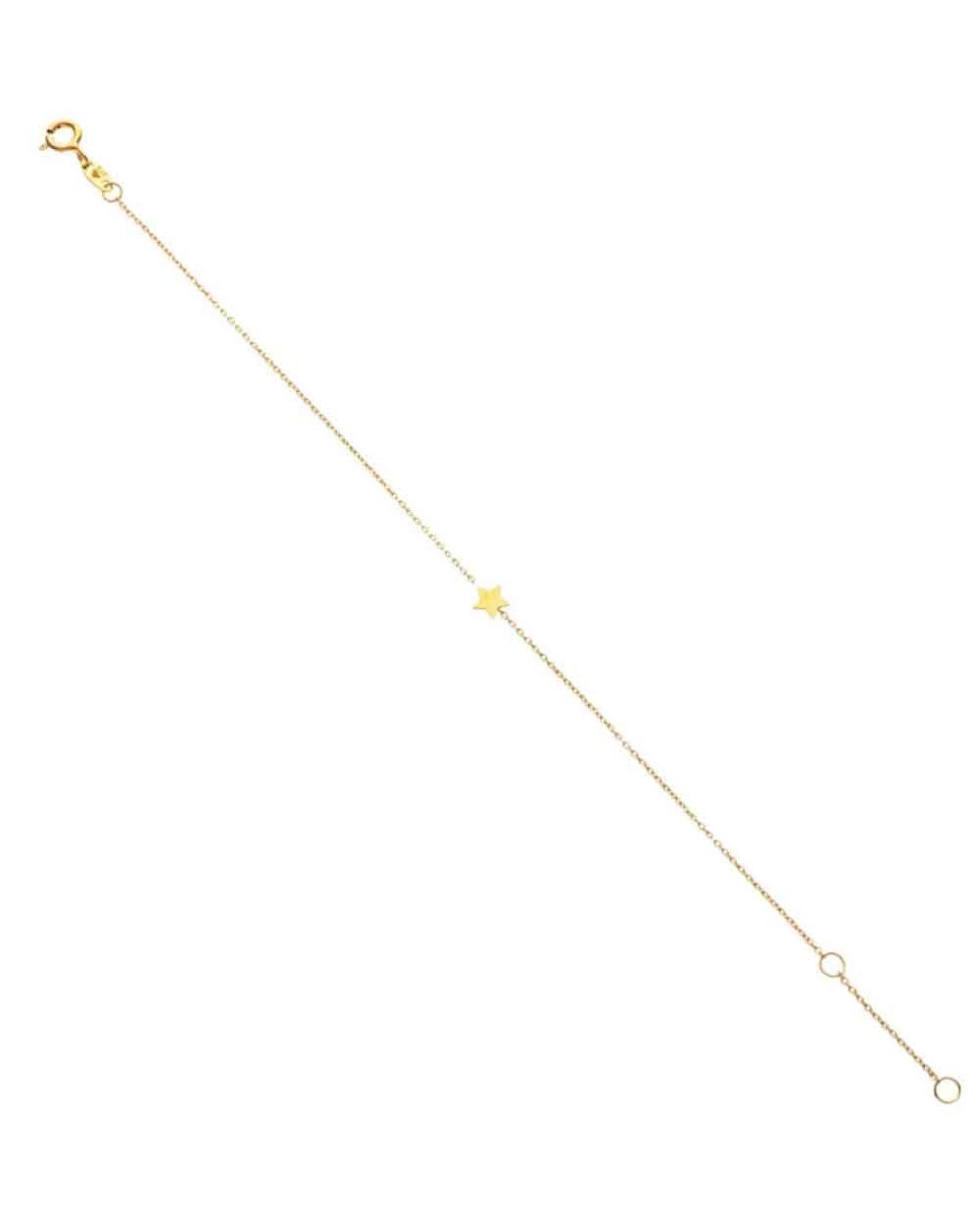 9kt Gold Floating Star Bracelet