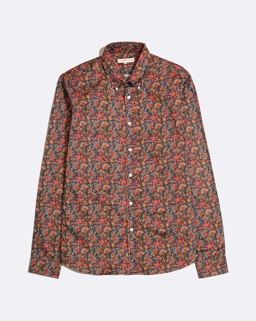 Floral Mod Button Down Shirt