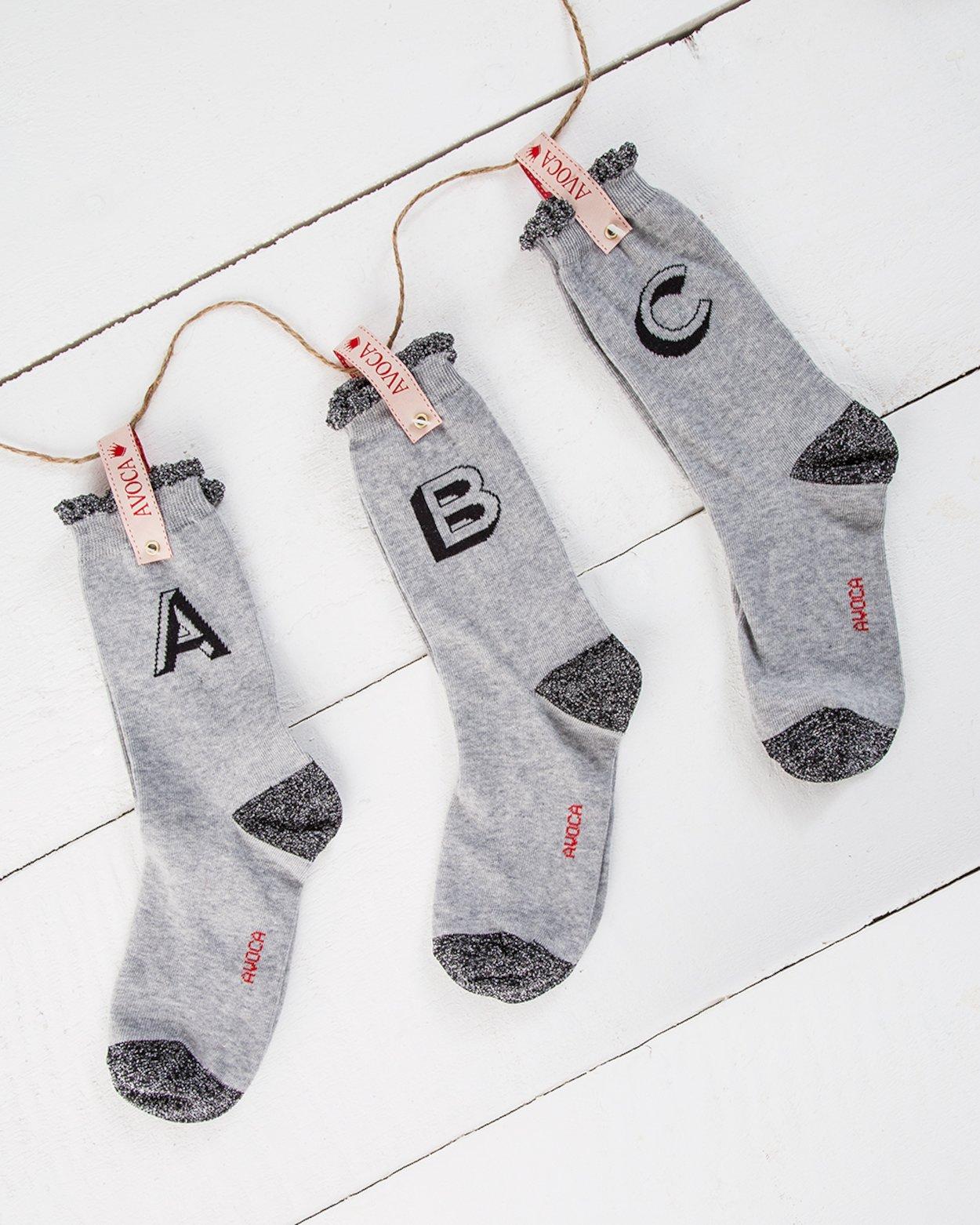 Alphabet Ankle Sock
